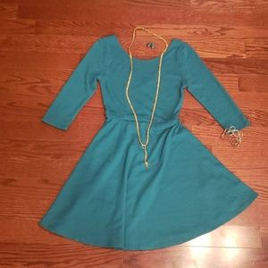 """The Red Dress Boutique""Junior Teal Fall Dress NWT"